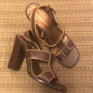Gorgeous BCBGirls Brown Leather Strappy Sandals 6